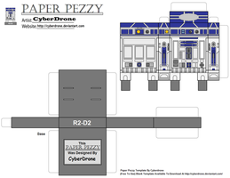 Paper Pezzy- R2 D2 by CyberDrone