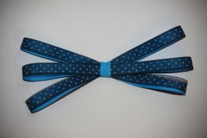 blue and polka dot bow by emobear