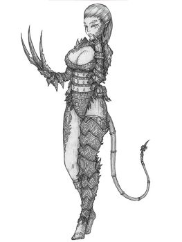 Planescape: Torment - Annah-of-the-shadows Variant by s0ulafein