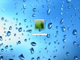Water Drops Vista Logon for XP by Mike360