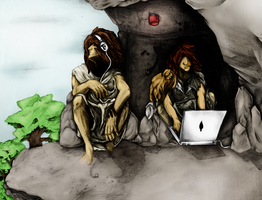Cavedudes - now in color by Fxy