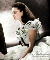 Scarlett O'Hara ~ Coloured photo by natsafan