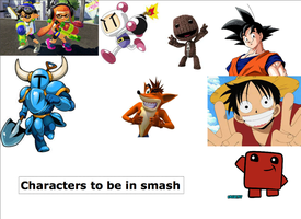 Characters to be in smash by Yojama