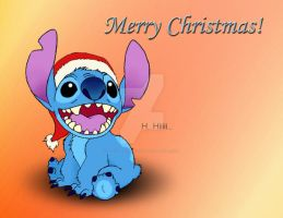 Stitch says Merry Christmas by ATildeProduction