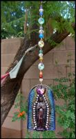 Mother Mary Clay and Crystal sun catcher by andromeda