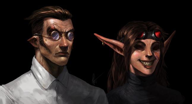 That eyeless couple by Snook-8
