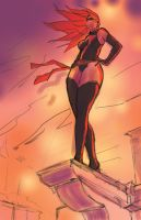 Ms. Marvel - Sketch 2 by Darren-Montalbano