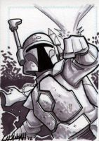 Boba Fett Sketchcard by stratosmacca