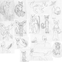 my first drawings. by moonlightartistry