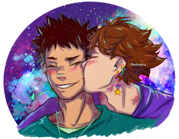 I need more smiling Iwaizumi in my life! by TaffyDesu