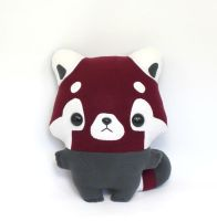 Pip Red Panda - Kawaii Pillow Plushie by TeacupLion