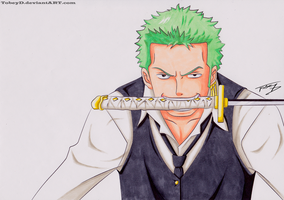 Roronoa Zoro - COPIC by TobeyD