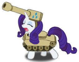 Rarity, dressed like a tank by The-Paper-Pony