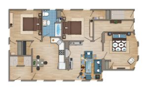 Floor plan 2D colored by TALENS3D