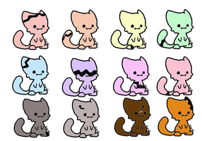 Stripped chibi cat adopts (open) by mermaidgirl013