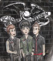 Green Day cartoons 4 by violeta1354