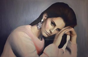 Lana Del Rey in oil WIP by Charlzton