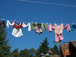 clothes on line by fotophi