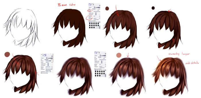 EASY anime hair tutorial by ryky
