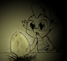 The golden dragon egg by QueenCold