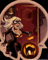 Black Cat Halloween by NLark