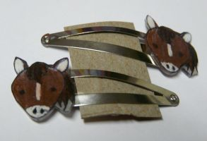 Horse Hair Clips by Eliea