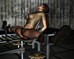 Lara Croft in Peril: The Spreader 11 by FatalHolds