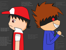 Red trying to get out alive - three day grace by xlightbluesnowflakex