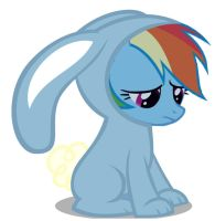 Rainbow dash bunny by pewdiedash