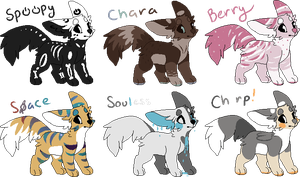 Adoptables by starsleeps