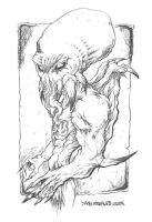 THE CHTULHU pencils by Dany M. by DEATHMOON-COMICS