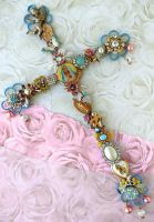 Catholic kitsch cross by janedean