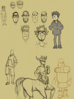 Character Sketches by PrimoRico