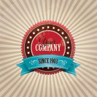 VINTAGE COMPANY BADGE VECTOR GRAPHIC by FreePSDDownload