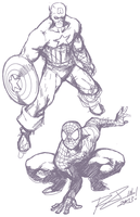 Captain Spidey by Robaato