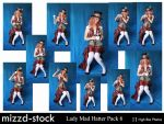 Lady Mad Hatter Pack 6 by mizzd-stock