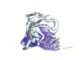 White Frost Hatchling by creativegoth18