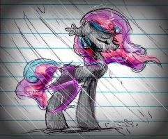 Tears In the Rain (Notebook Sketch) by frosty-pixels