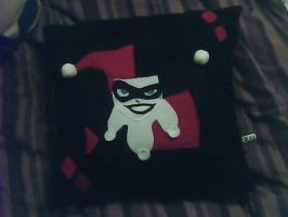 Harley Quinn Pillow by IrashiRyuu