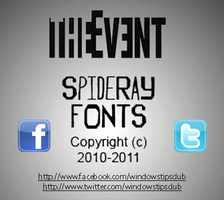 THEEVENT FONT by SpideRaY