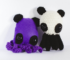 Panda Octopus Bears by candypow