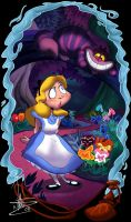 Alice in Wonderland by dodgyrommer