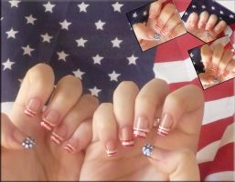 USA nails by uutopicaa