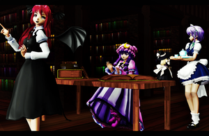Scarlet Mansion Library by sparkel10493