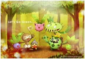 Pokemon : Let's Go Green by MayaIdanan
