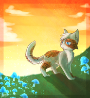 A Flower in a Feild of Mushrooms :CO: by Bluefire-kitteh