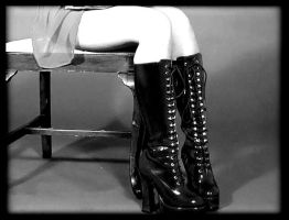 Black boots by sirenelle