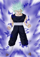 Adult Mat Super Saiyan Ultima by LilRwar