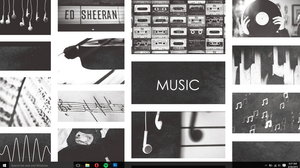 Tumblr Music Wallpaper (BLACK AND WHITE) by Coffee-Break-Editss