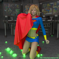 Supergirl  green K continued by orionsforge